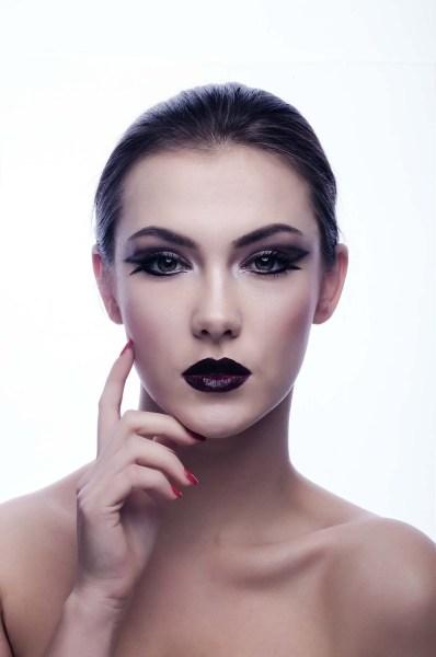 Schwarz Lippenstift Make Up