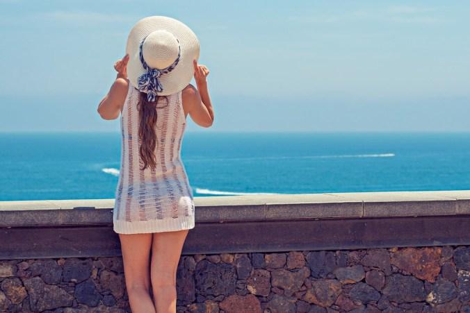 Sonnenhut Kleid Aussicht