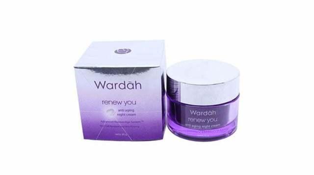 wardah night cream untuk kulit berjerawat