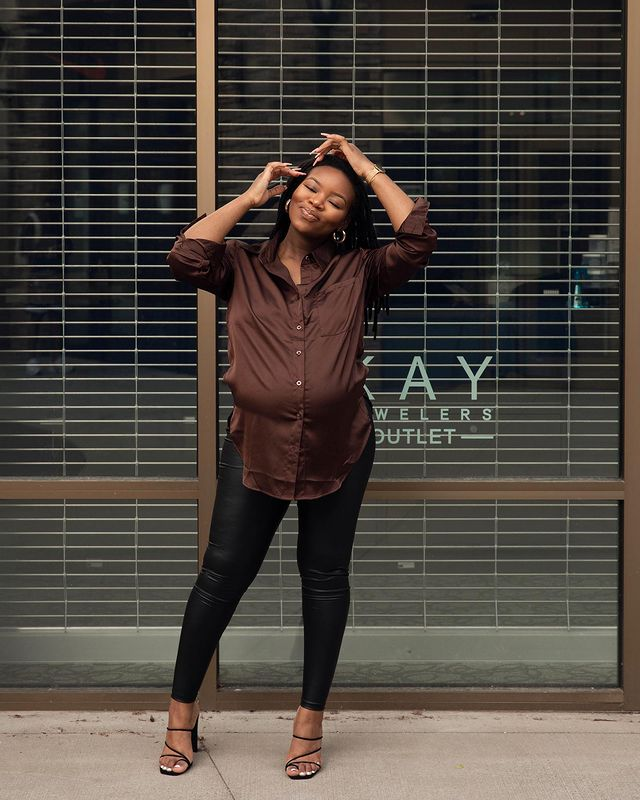 10 Times Lola Akinkuowo Gave Us Pregnancy Fashion Goals With Her Lovely Baby Bump