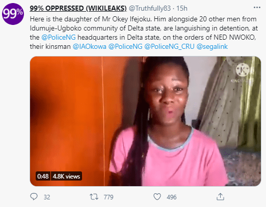 Ned Nwoko trends as former beauty queen accuses him of putting her father in jail because their community resisted his