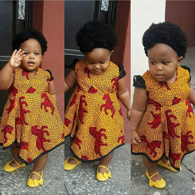 cute ankara styles for babies & toddlers (21)