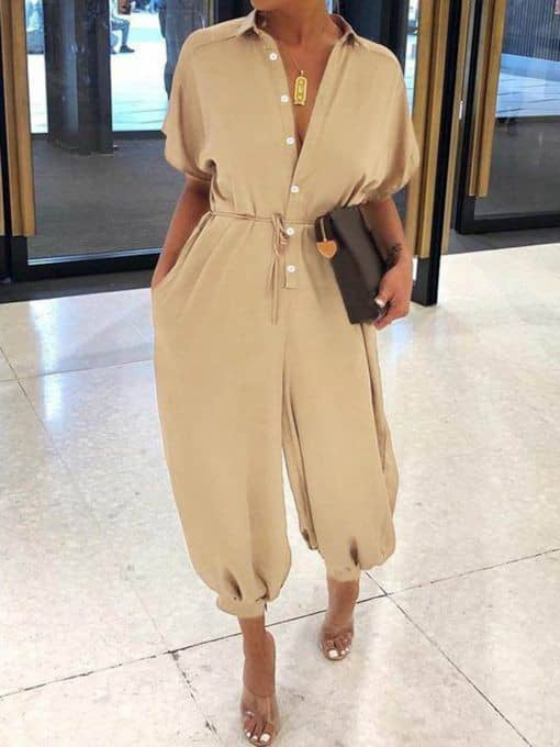 lady rocking jumpsuit for a casual outing