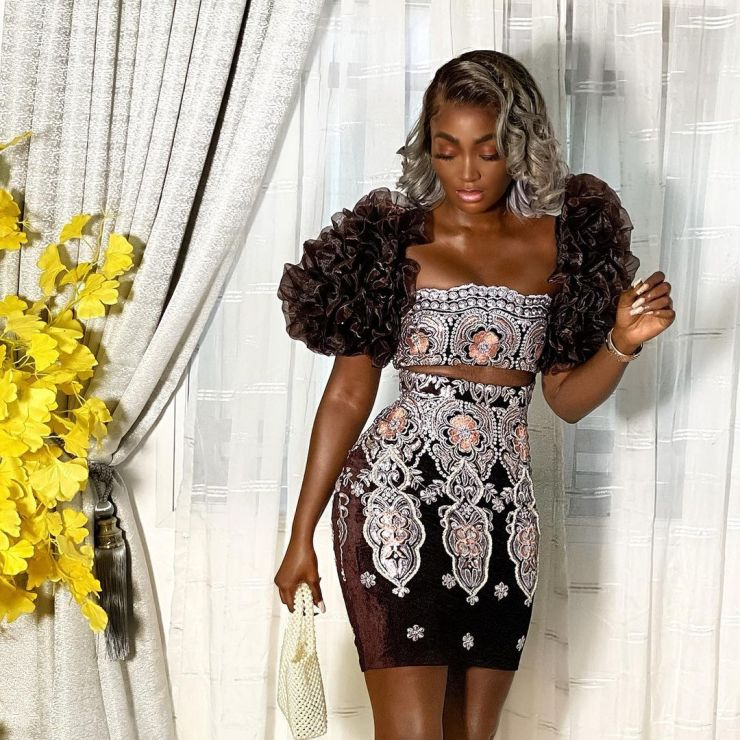 Tolu Bally- Looking Gorgeous In Two Piece Outfit