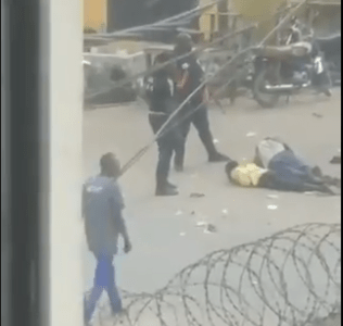 Tension in Ogba after three okada riders were allegedly shot during clash with police (videos)