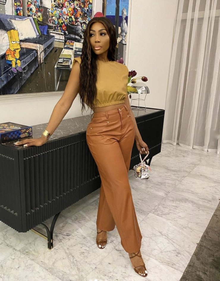 brown leather wide leg pants high waist stylerave