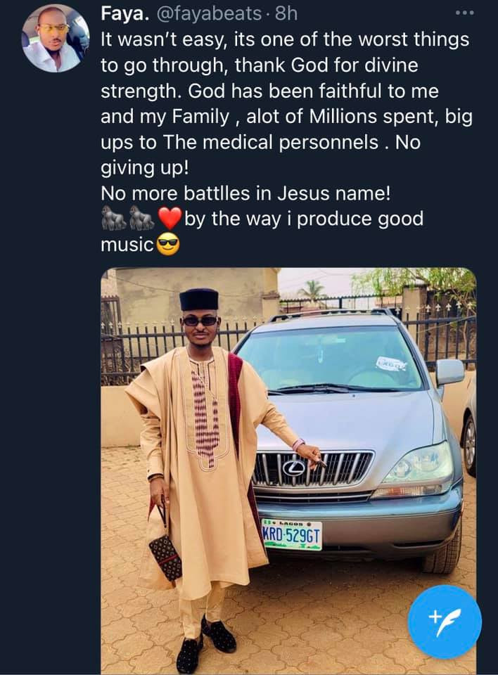 Nigerian music producer, Fayabeats beats three types of cancers in one year