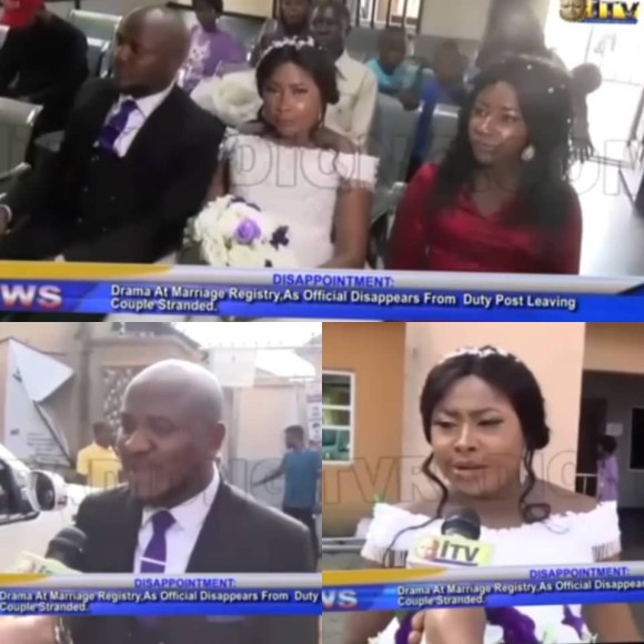 Intending couple left stranded after?registrar who was supposed to officiate at their wedding?travels out of Edo for a burial; FG reacts?(video)