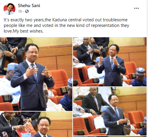 Senator Shehu Sani marks two years of being voted out by members of the constituency