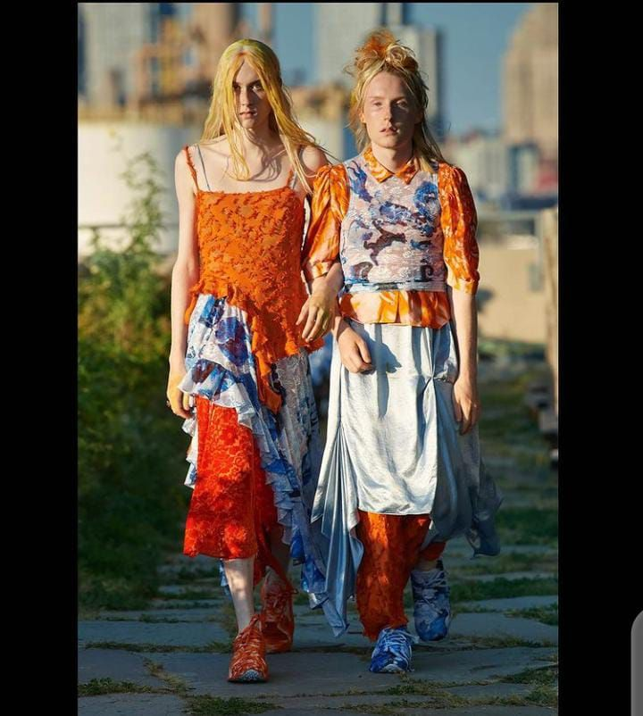 2 ladies stepping out in eccentric attires