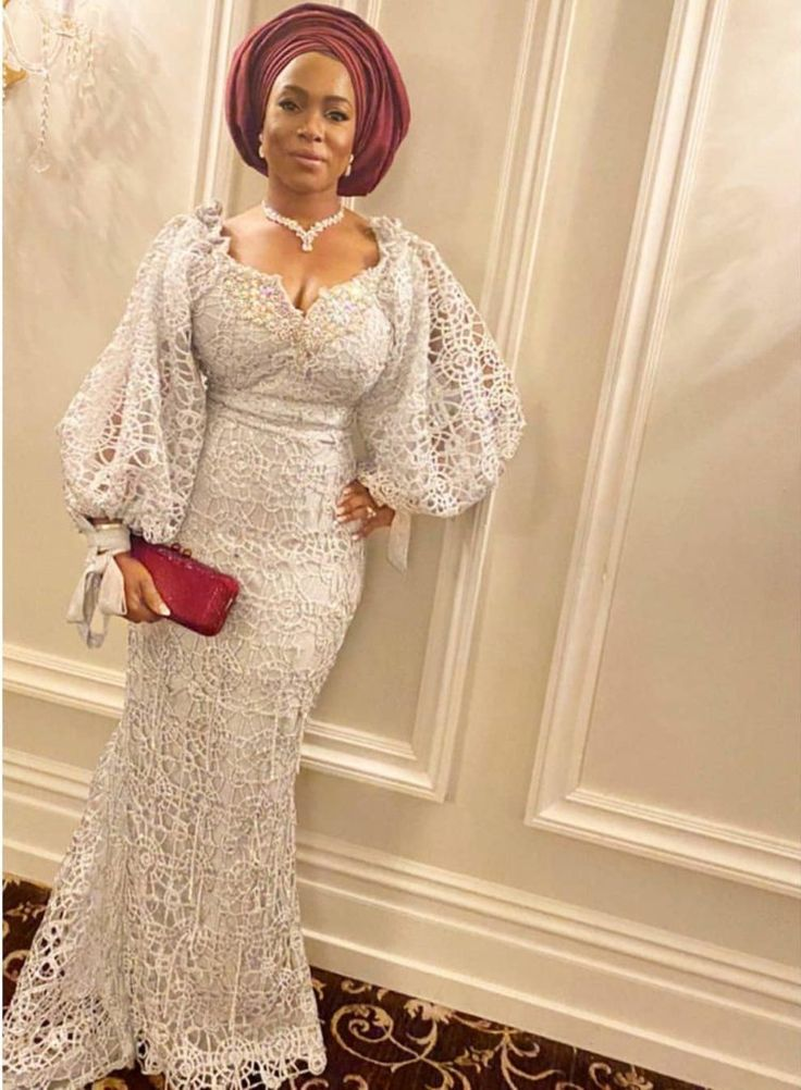 Classy White Lace Style With Bishop Sleeves