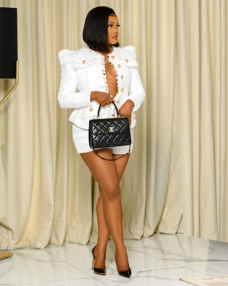 Christiana Kayode- Keeping It Sassy In Two Piece Outfit