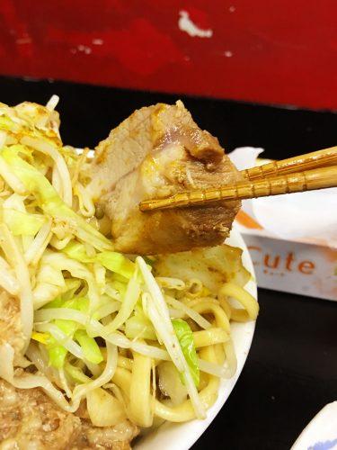 マッチョ_つけ麺_豚肉