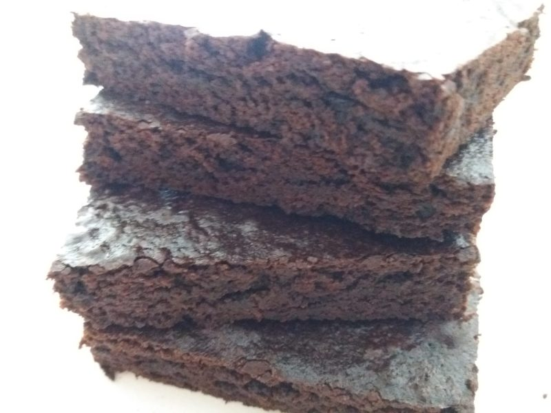 Brownies made with cocoa