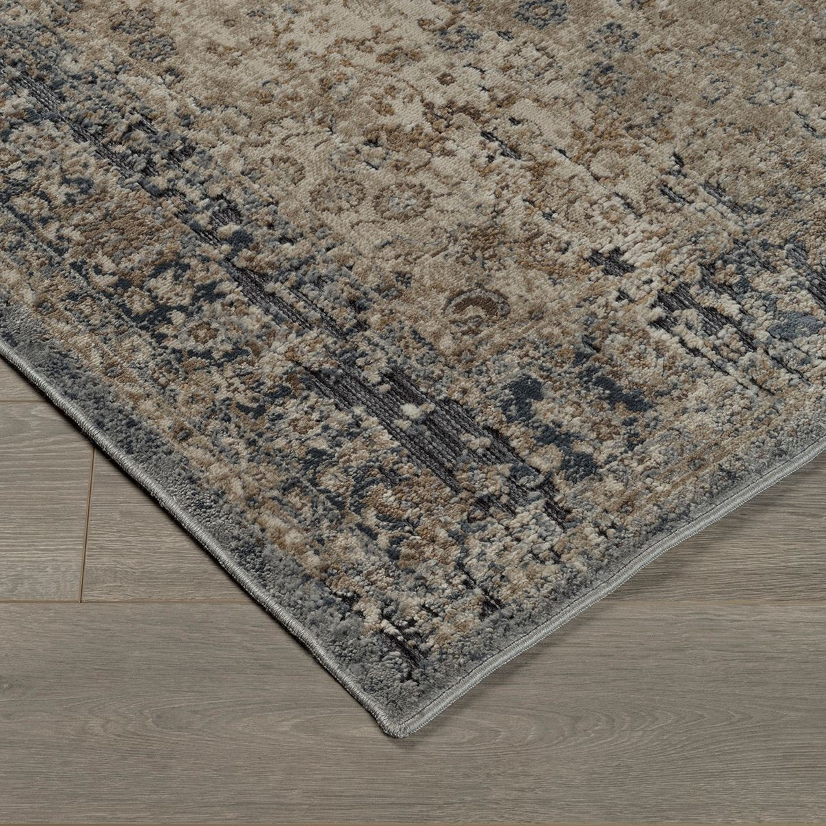south blue and tan 8x10 rug