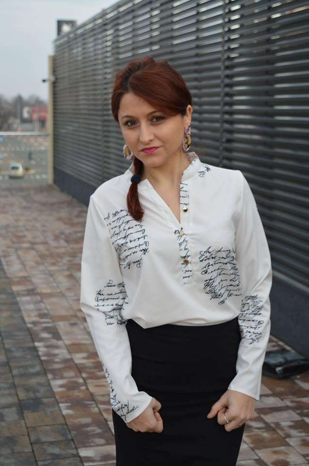 Ținută alb-negru/Black and white outfit - OOTD