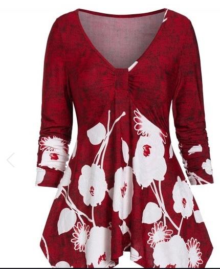 Bluză cu imprimeu florar