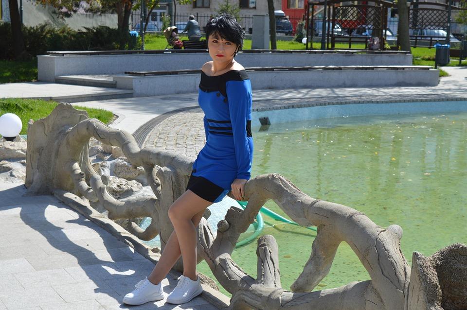 rochie albastră Dresslily
