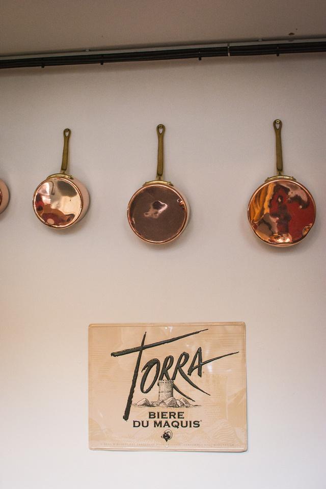 Copper pans at La Guinguette Bristol