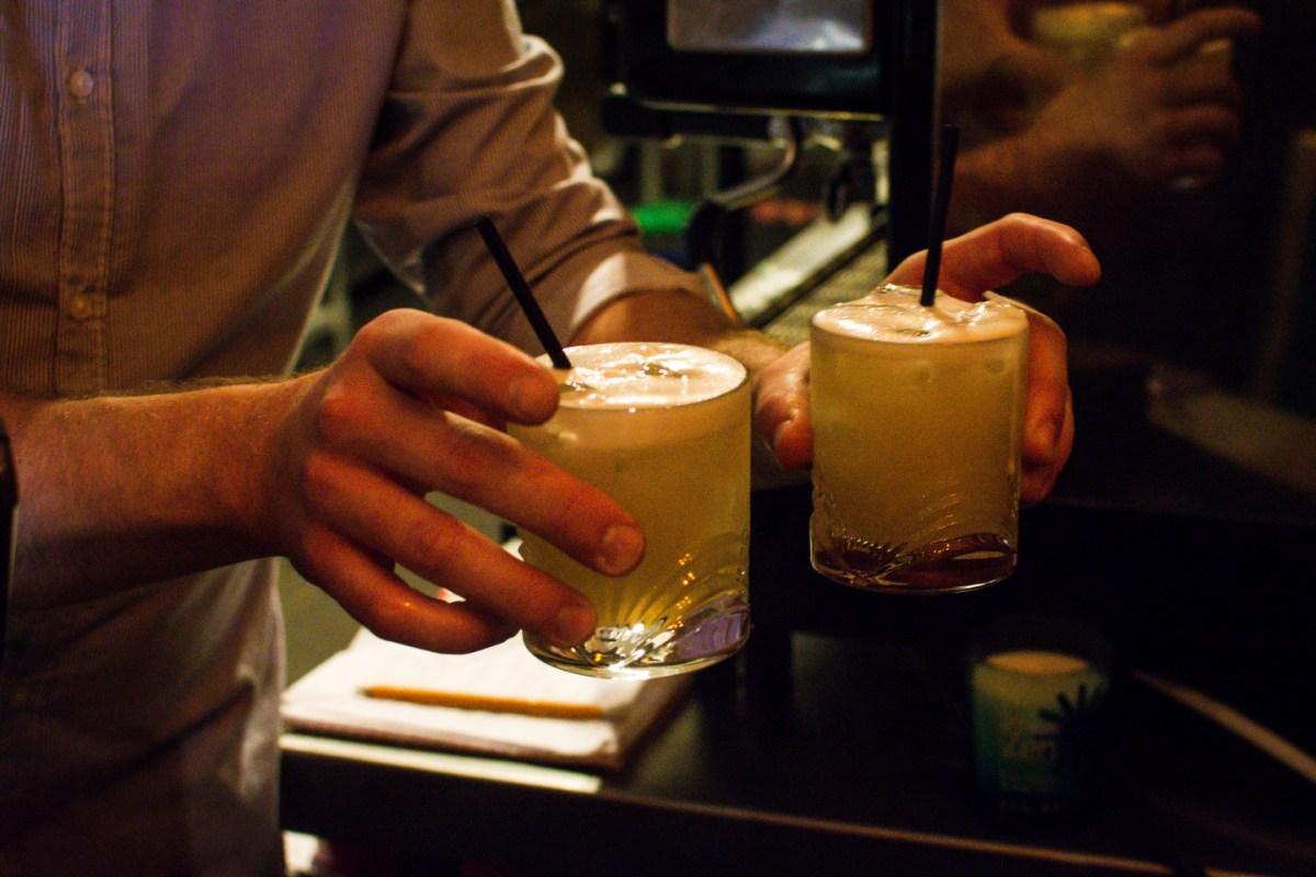 Cocktails served at La Guinguette Bristol