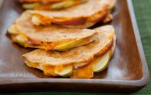 Apple and Cheddar Whole Wheat Quesadillas
