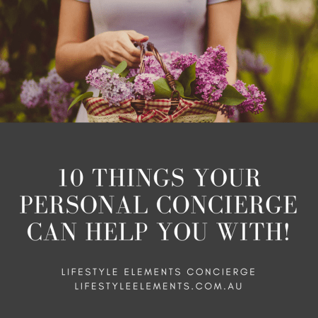 10 Things Your Personal Concierge Can Help You With