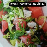 Festive Watermelon Salad with Feta Cheese