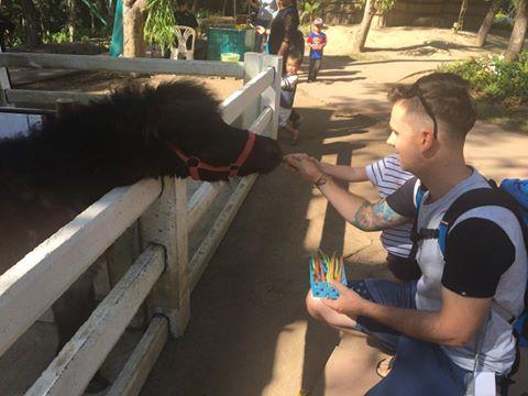 Matt and Issy at Chiang Mai Zoo