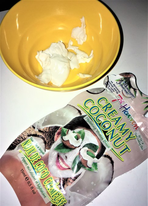 Premade Mask poured into the mixing bowl