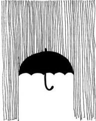 umbrella drawing rain