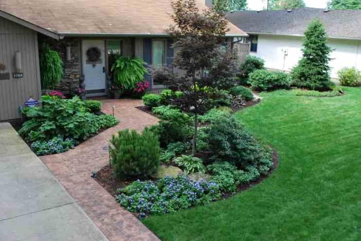 AFTER: generous walkway, inviting entry garden