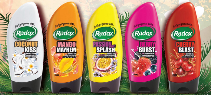 Image result for image of fruity shower gel