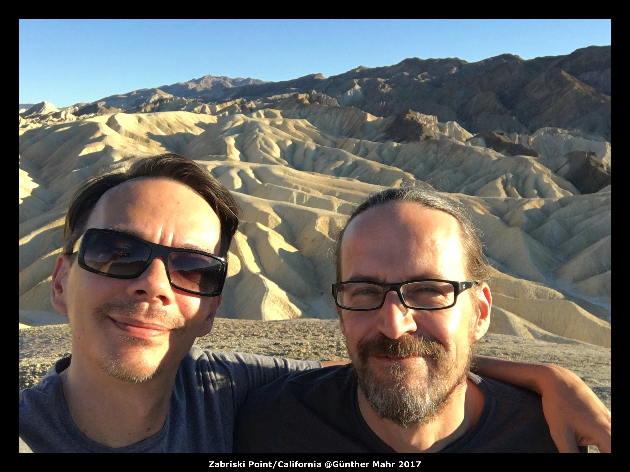 USA Road Trip Quer Etappen California Zabriski Point Selfie