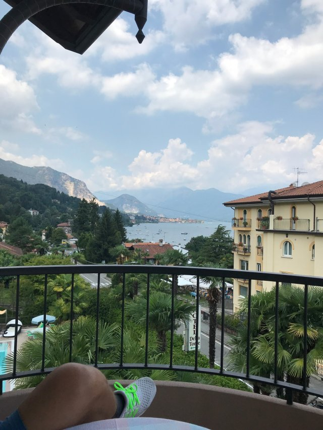 View from the Balcony on the Lago Maggiorre and the small village