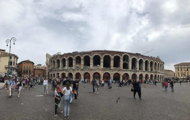 The ancient roman arena of Verona. Today you can enjoy concerts inside.