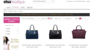 Borse donna autunno-inverno 2014/2015: Elsa Boutique, una tentazione a portata di click