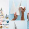 Centrotavola natalizio fai da te: Albero di Natale con paillettes