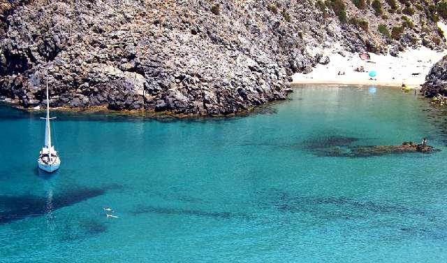 Spiaggia di Cala Domestica (località Buggerru provincia Carbonia Iglesias, costa Sud occidentale della Sardegna)