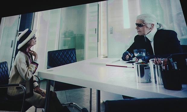 Coco-Chanel-e-Karl-Lagerfeld-scena-dal-cortometraggio-di-Karl-Lagerfeld
