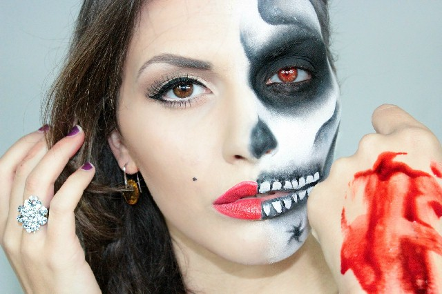 Trucco Halloween | Tutorial Ferite e Make Up Horror ...