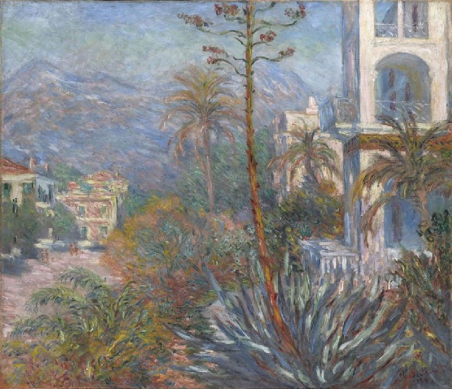 Monet - Le ville a Bordighera (1884)