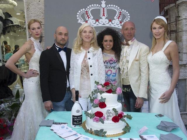 Delizie Wedding inaugurazione: William Vittori, Marchesa d'Aragona, Denise Rossi, Erno Rossi