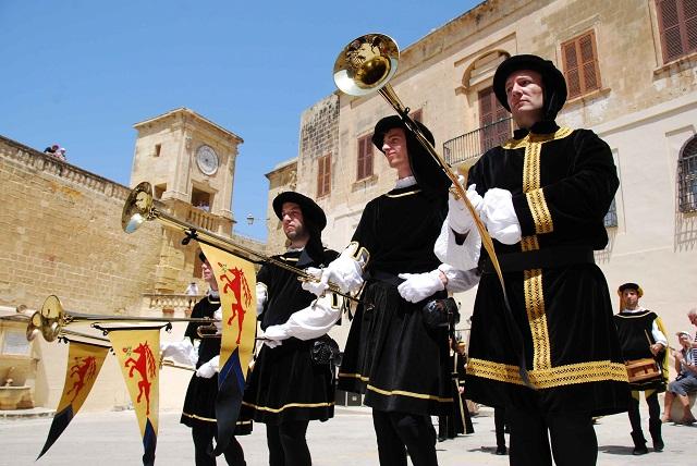 Gozo - Citadel Sbandieratori Display in 02 by mario galea