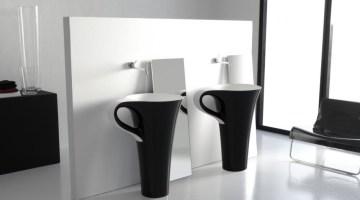 SweetHabitat: Pentole e tazzine in bagno!
