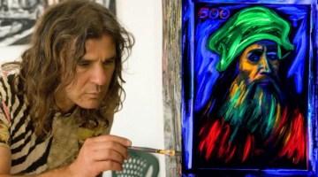 Fernando Alfonso Mangone e la vernice fluorescente alle Officine Garibaldi