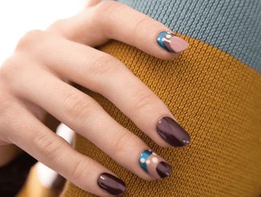 Colori moda smalti inverno 2017. Tendenze, colori e pattern geometrici sulle mani