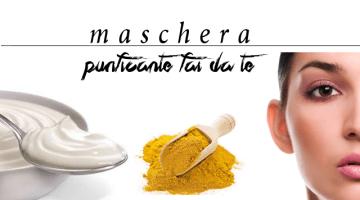 Maschera purificante fai da te: yogurt e curcurma