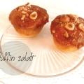 Muffin salati al parmigiano, rosmarino e nocciole