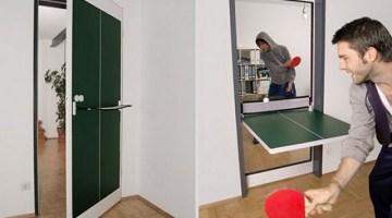 Ping Pong door: la porta diventa tavolo da gioco