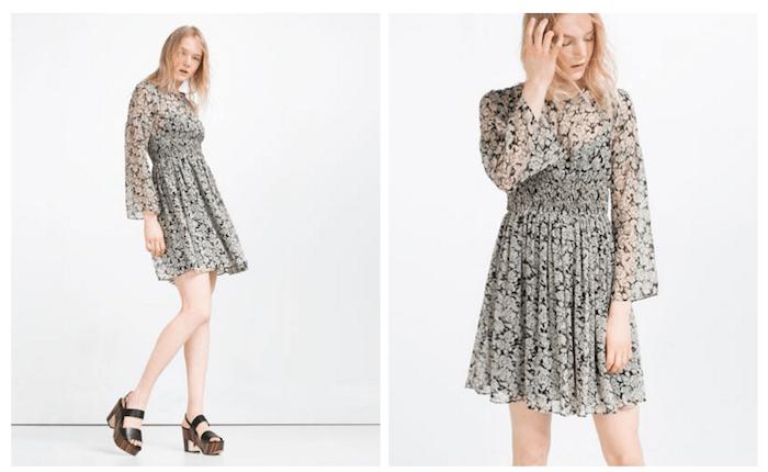 Vestito floreale, Zara primavera-estate 2016